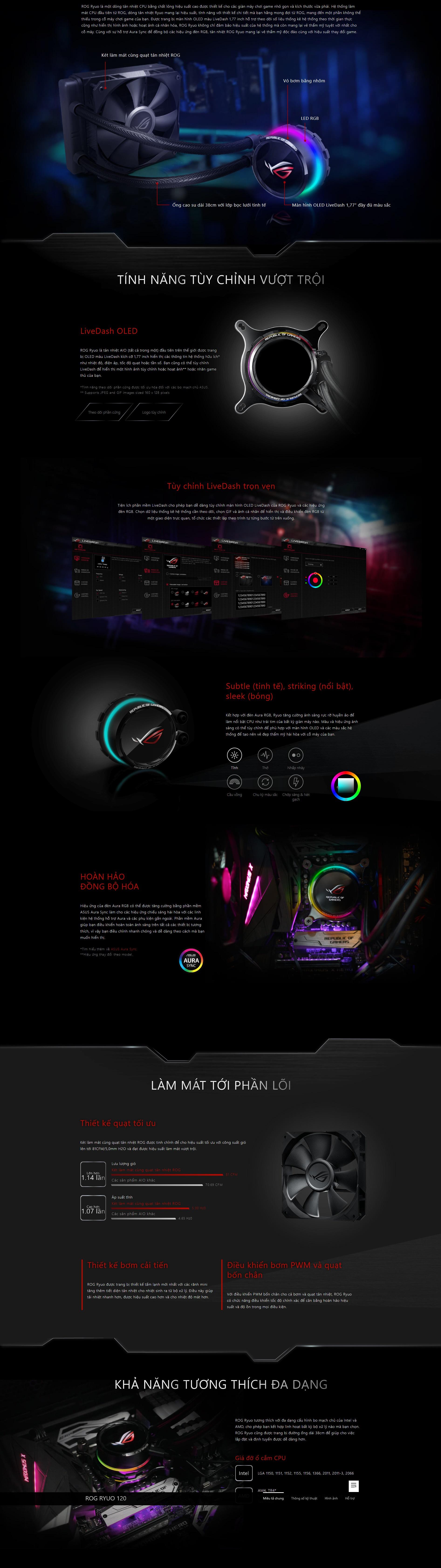 Asus ROG Ryuo 120 RGB | AZ Audio - Chuyên Gaming Gear và các thiết